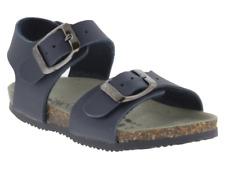 Sandalo bambino Biochic blu con doppia chiusura a fibbia estate