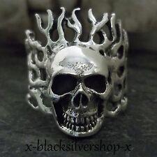 Totenkopf Ring Silber 925 Herren Skull Biker Schädel Metal Gothic Keltisch
