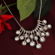 Fashion statement luxury water drop round crystal chokercollar jewelry necklace