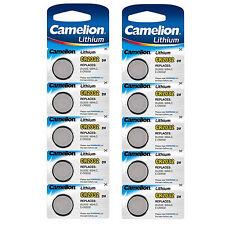 10 x  CAMELION BATTERIEN CR2032 - CR2025 - CR2016 - CR2430 - CR1220 - TOP
