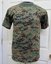 New Woodland Digital Camo Camouflage Short Sleeve T-shirt Marine USMC Marpat