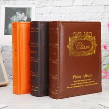 6 inch Leather Photo Album 200 Pictures Pockets Interstitial Photos Storage Case