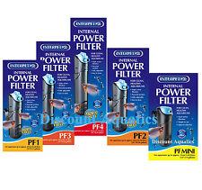 INTERPET PF MINI, PF1, PF2, PF3, PF4 INTERNAL AQUARIUM FISH TANK POWER FILTER