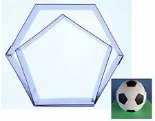 """Football Gâteau Hexagonale/Pentagone Emporte pièce approprié à 6"""",20.3cm,9,12,"""