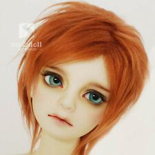 BJD Doll Wig SD Pullip Blythe 8-9 MSD YOSD 6-7 OB11 Dal Toy Head Red Brown Hair