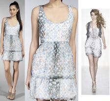$268 Walter Runway Silk Kaleidoscope Bubble Sleeveless Dress