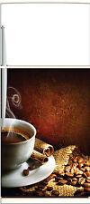 Sticker frigo électroménager déco cuisine Café 60x90cm Réf 1353
