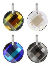 Sterling Silver Round Twist Pendants made with 6621 28mm Swarovski® Crystals