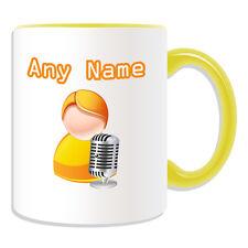 Personalised Gift Singer Mug Money Box Cup Icon Design Name Artist Music Speaker