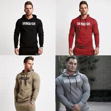 Men Gyms Hoodies Bodybuilding Casual Sweatshirt Muscle Men's Slim Fit Pullover