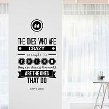 Steve Jobs INSPIRATIONAL MOTIVATIONAL Wall Decal Art Quote Home Office Decor