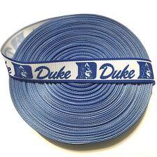 """7/8"""" Duke Blue Devils Border Grosgrain Ribbon by the Yard (USA SELLER)"""