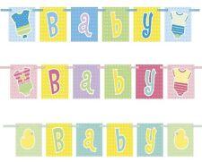 Baby Shower bloque Banner-Rosa Niña Niño Azul Pastel Unisex ducha Decoraciones