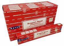 Satya Nag Champa DRAGONS BLOOD Incense Sticks: 15 Gram Box: Pick 1 2 3 4 6 9 12