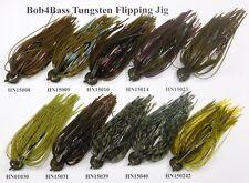 Bob4Bass Tungsten Flipping Jig  Green Pumpkin #1
