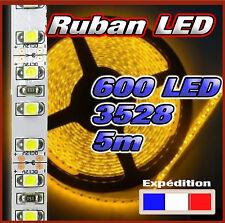 817J# Strip LED 3528 120 LED/m 600 LED 5m jaune version non étanche ou étanche