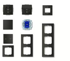 Busch Jäger future® linear schwarz matt -Rahmen Schalter Steckdosen Wippen -Ausw