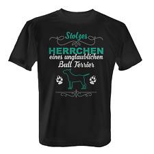 Bull Terrier Herrchen Herren T-Shirt Spruch Geschenk Idee Rasse Hunde Besitzer