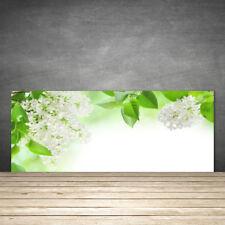 Küchenrückwand aus Glas ESG Spritzschutz 125x50cm Blumen Blätter Pflanzen