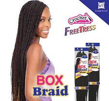 MEDIUM BOX BRAIDS - FREETRESS BULK CROCHET LATCH HOOK BRAIDING HAIR EXTENSION