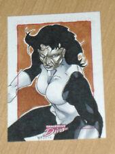 Marvel Dangerous Divas sketch Richard Cox Madame Masque