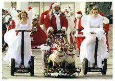 Weihnachtskarte: Weihnachtsmann und Engel motorisiert - Nikolaus