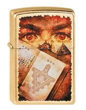 Zippo Goth Eyes Book Gold Dust auf Wunsch mit persönlicher Gravur 2002373 Neu