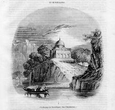 Stampa antica INDIA Bundelkand in Hindustan 1844 Old Print