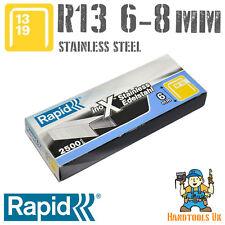 RAPID R13 (13 SERIE) IN ACCIAIO INOX Staples 2500 casella 6, 8mm (R13, R23, R33)
