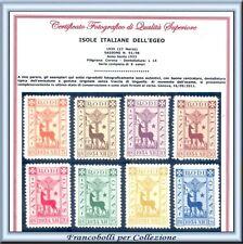 1935 Colonie Egeo Anno Santo n 91/98 Serie Completa Certificato Nuovi Integri **