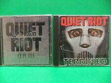 Quiet Riot CD LOT QR III 1986 Australia Import Terrified Kevin DuBrow Hair Metal