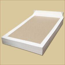Papprückwand Versandtaschen DIN B4 weiß Haftklebung Papprückwandtaschen