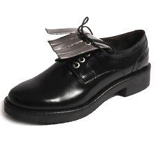 B0387 scarpa donna PENNYBLACK SEMOLA frange nero shoe woman