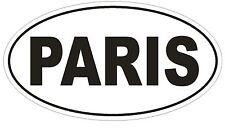Paris Oval Bumper Sticker or Helmet Sticker D816 Euro Oval Paris France