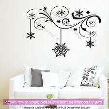 Rama De Vinilo Adhesivo Pared Arte Floral Invierno Navidad Copo De Nieve Decoración Arte Calcomanía De Tienda
