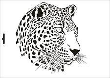 Wandschablone Maler T-shirt Schablone W-002 Leopard ~ UMR Design