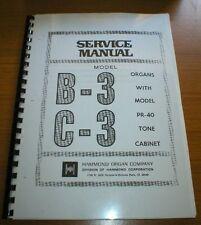 Hammond Organs service manual - Different models B3, C3, M100, M3, M2