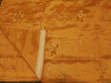 Store, Gardine, Voile, orange, goldf., bestickt, Ösenaufh. L x B 225 x 140cm