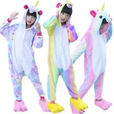 Kids Rainbow Kigurumi Animal Cosplay Costume Onesie16 Pajamas Sleepwear