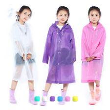 EVA Transparent Frosted Children's Raincoat Outdoor Hiking Travel Kids Rain Coat