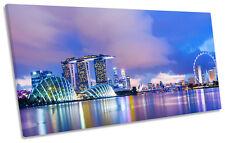 Singapore Cityscape BOX FRAME CANVAS ART PANORAMA Print