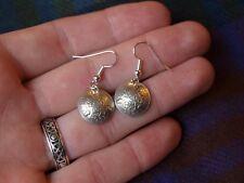 Antique Genuine Silver Threepence Coin Earrings 1931-1940 Handmade Birthday