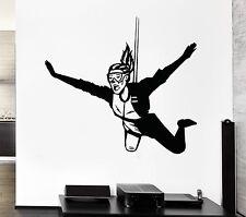 Wall Decal Extreme Air Flight Parachute Jump Girl Mural Vinyl Stickers (ed014)