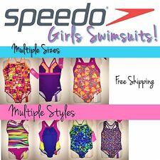 SPEEDO Girl's Swimsuits, SIZES 5-6-7-8-10-12-14-or-16, Retail $44 - NWT!