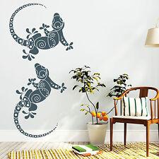 11195 Pegatina pared Gecko RAMOS LAGARTO Floral Bordura Adhesivo