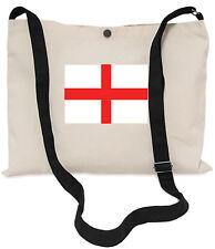English Flag Canvas Musette Bag 40x30cm, 150cm Long black adjustable strap