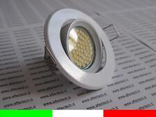 60 LED FARETTO DA INCASSO 120° GU10 BIANCO CALDO 3,5w 220v LAMPADINE sup BIA