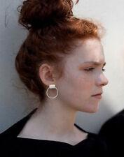 Lady Fashion Circle Stud Simple Ring Circle Earrings Punk Chic Geometric Design