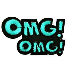 Patch Toppa da stirare OMG! Blu College CARTOON PATCHES NERO BIANCO 3/85