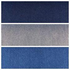 "8oz Washed Denim Light-Medium-Dark Blue Fabric 100% Cotton 58"" Wide M614 Mtex"